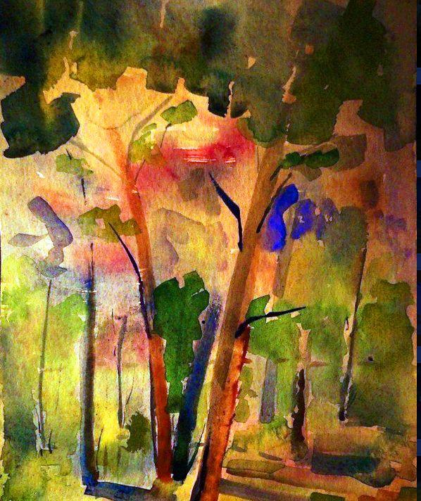 Watercolor original by Cezary Zyndzo