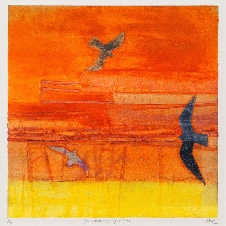 RA Summer Exhibition 2016 work 583: SANCTUARY - SPRING by Barbara Rae RA