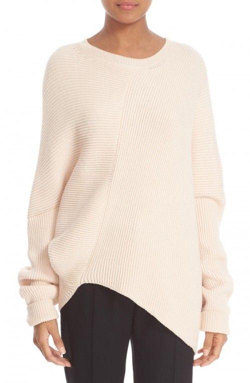 Stella+Mccartney+Women's+Asymmetrical+Wool+Sweater+|+Clothing