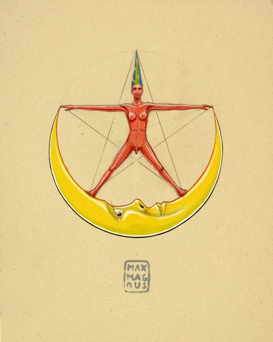 Rebis (Alchemical symbol for for the end product of the great work.) By Max Magnus Norman