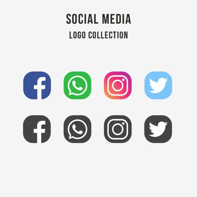 Social Media Logo Collection Social Media Logos Social Media Icons Free Social Media Banner