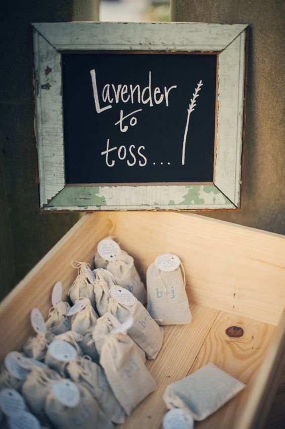 Custom-stamped Lavender Bag for Wedding Toss…