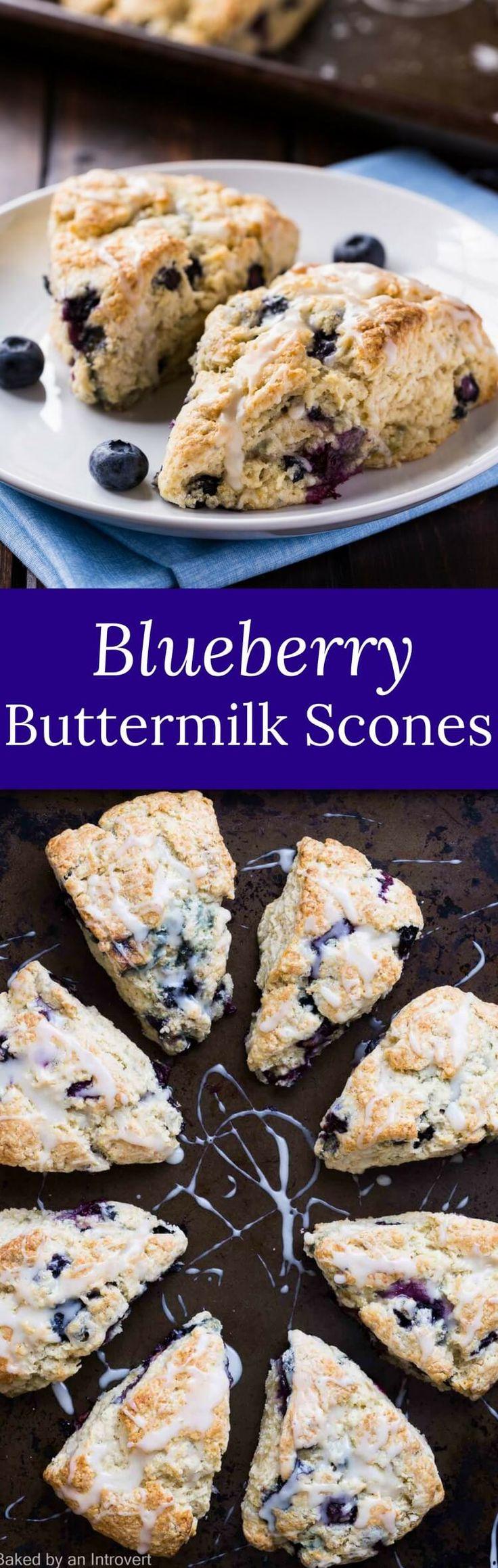 Blueberry Buttermilk Scones | Breakfast | Brunch | Recipe via @introvertbaker