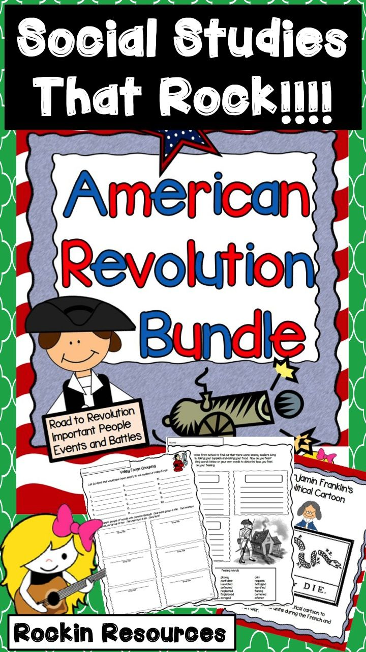 This extensive unit is 3 units combined! Causes Leading up to War, People in the War, Events and Battles. There are detailed lesson plans that take you through 8 weeks of teaching the Revolutionary War. Having it bundled together, you save, save, save! There is no need for a textbook. With all the informational text, teaching posters, variety of activities/skills, assessments, etc, it is all you need!