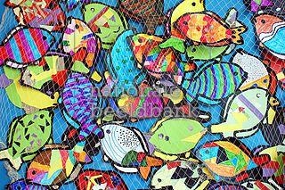 knutselwerk met vissen