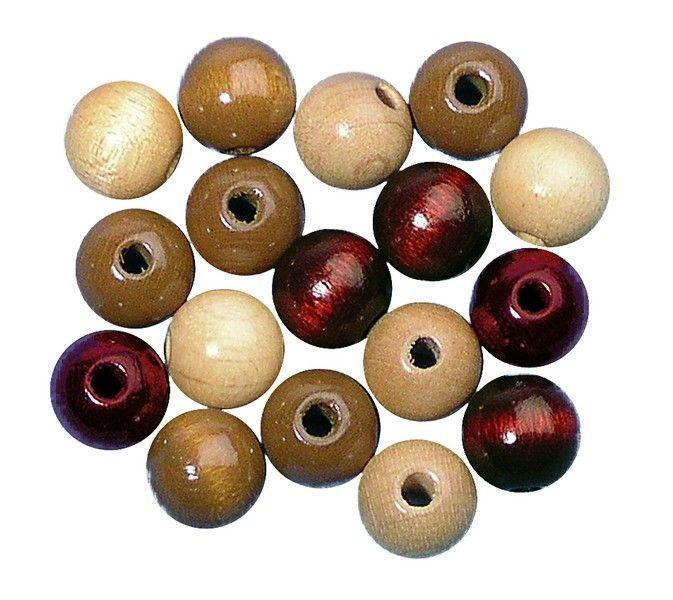 Fagyöngy, 10 mm átm., barna árnyalatok, 52 db/FCS