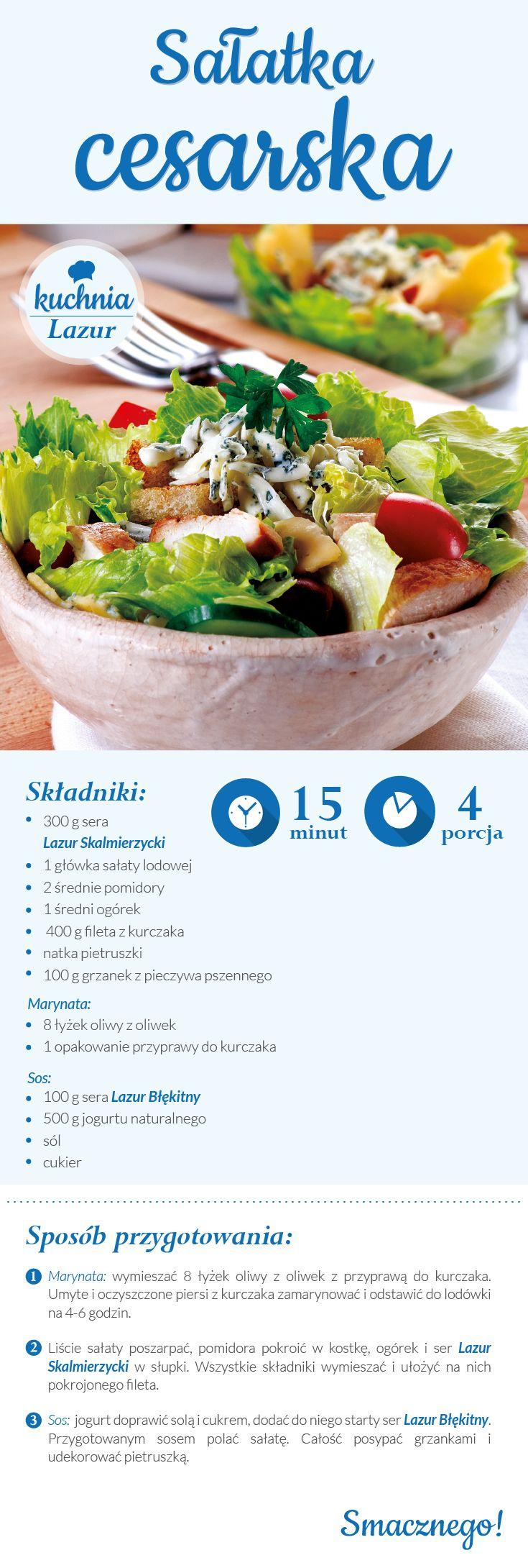 Sałatka cesarska /sałatka /cesarska /Lazur /ser pleśniowy /rokpol /przepisy /kuchnia lazur