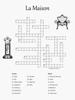 French Crossword La Maison