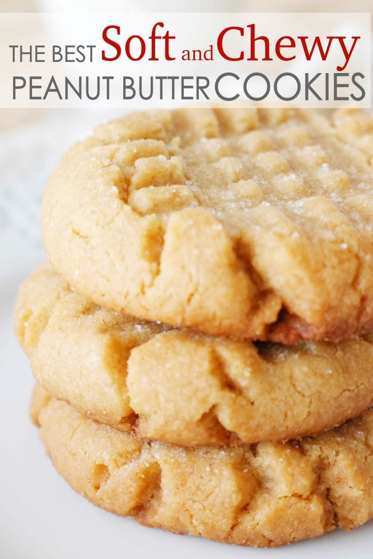 The Easiest Soft and Chewy Peanut Butter Cookies