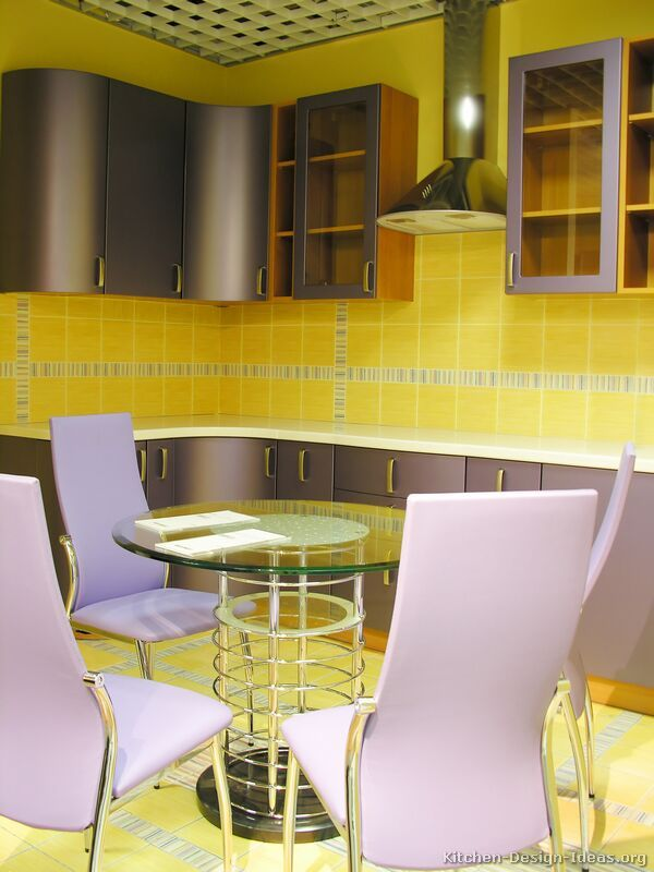 Retro Kitchen Cabinets Contemporary Two Tone Purple Light Wood Curved  Interior Design   GiesenDesign Part 81