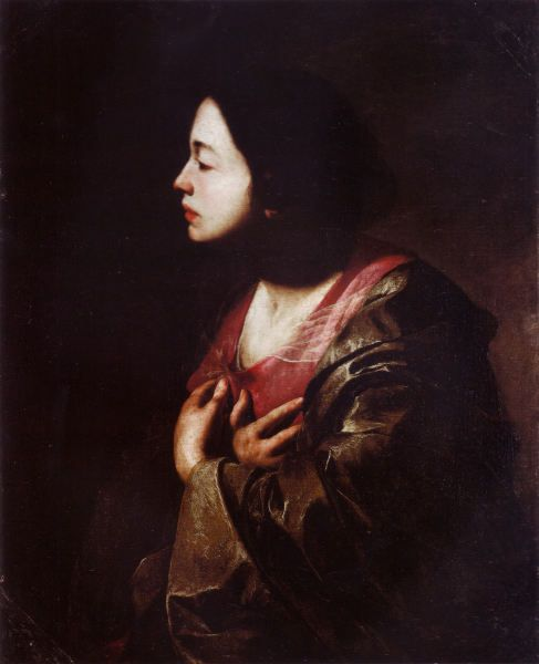 """The Virgin Annunciate"" (1645-1650)                 by Bernardo Cavallino"