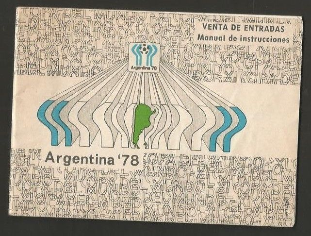 Brochure Argentina Soccer World Cup 1978 Instructions To Buy Tickets  | eBay