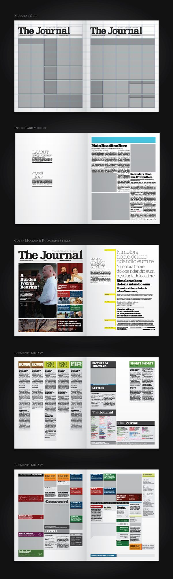 The Journal: Newspaper Redesign on Editorial Design Served