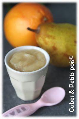 Recette pour bébé 6 mois Compote de poire au pamplemousse