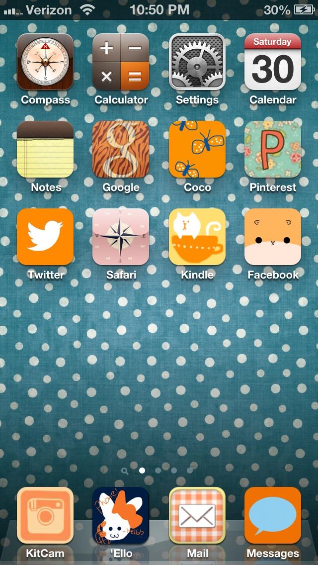 My kawaii phone icons using the CocoPPA app.
