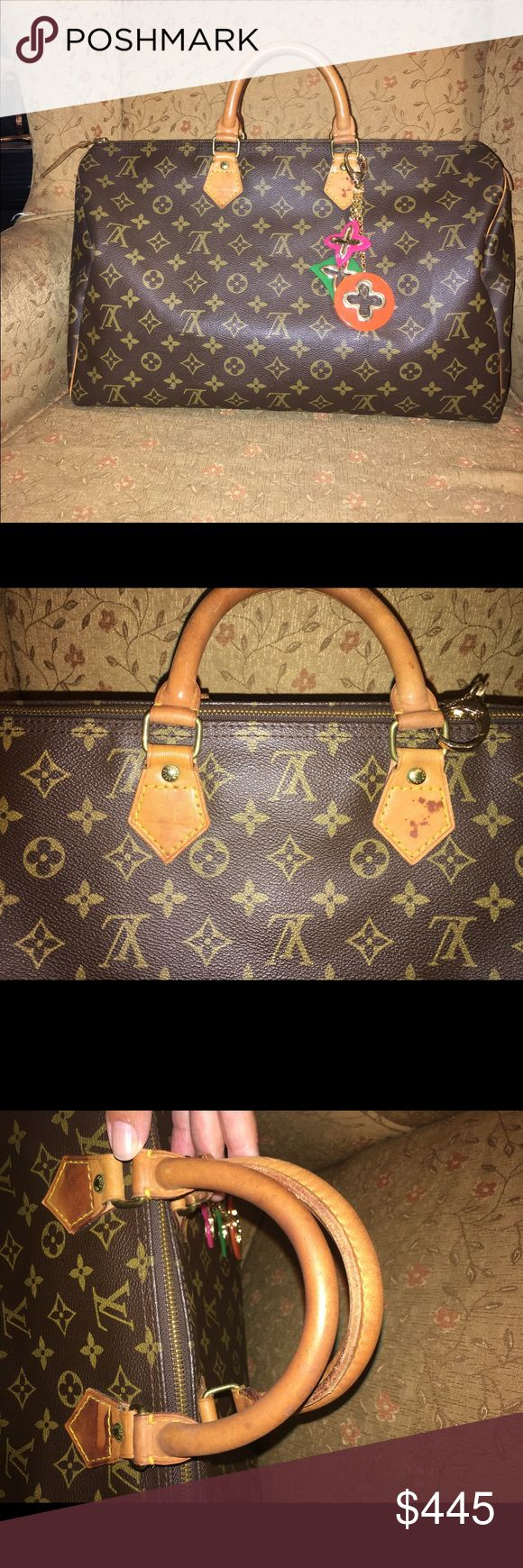 Louis Vuitton Speedy 40 Authentic LV Speedy 40. Some water stains on tabs. No tears or rips. NO TRADES. 🅿️ay🅿️al $350 Louis Vuitton Bags Satchels