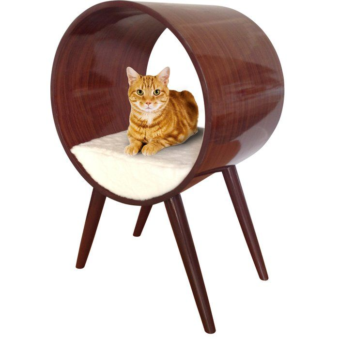 Penn Plax CatWalk furniture has surpassed the traditional concept of cat furniture by offering items that can better be described as pet home décor. These midcentury modern pieces are beautiful, high style designs. CatWalk Lavish Infinity Bed offers a cool, stylish design for your home and cat with an equally comfortable bed for your furry friend.