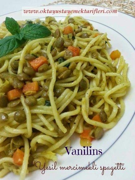 Yeşil Mercimekli Spagetti