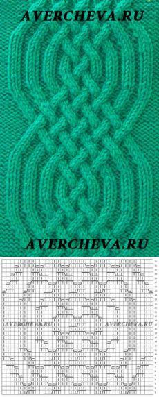 Узор 806 | каталог вязаных спицами узоров