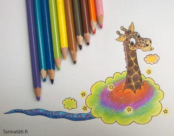 Lasten ideoista kirjaksi | Tarinatädin värityskuvat