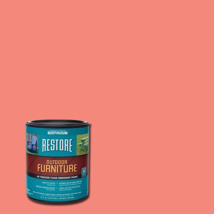 Rust-Oleum Restore 1 qt. Coral (Pink) Outdoor Furniture Coating