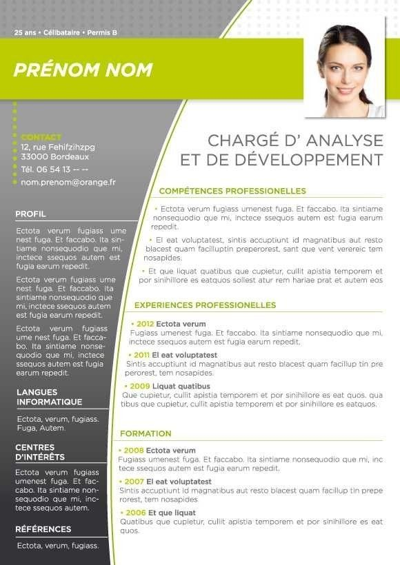 8 Modeles De Cv Cv Words Curriculum Vitae Cv Models