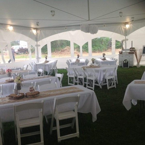 Fine Hexagon Tent With Rectangle Tables And White Folding Chairs Pdpeps Interior Chair Design Pdpepsorg