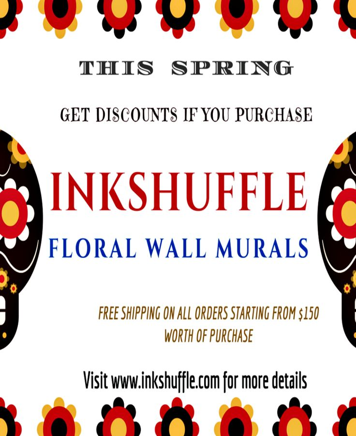 Give your home a natural and fresh feel by putting up InkShuffle #floral wall #murals and decals this spring!