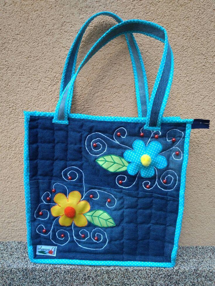 Jeans,  Farmer,  Táska Egy öreg farmernadrág újra hasznosítása.  DIY Handmade from Asmira