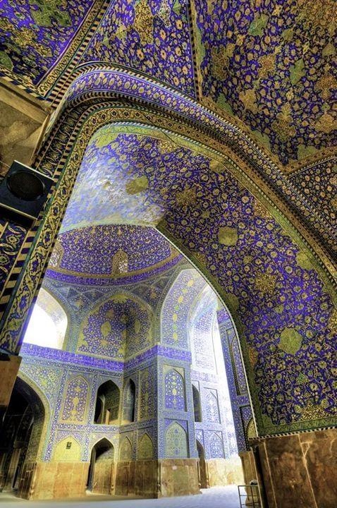 Shah Mosque, Isfahan. Tomb of Sa'di, Shiraz, Iran