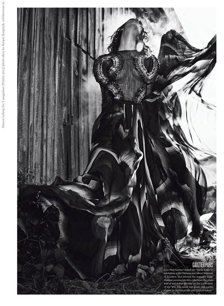 Manon Leloup for V magazine (Winter 2013) photo shoo by Kacper Kasprzyk