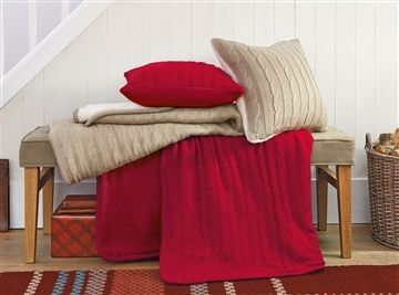 Natural Knitted Throw