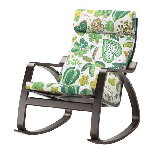POÄNG Rocking-chair IKEA Layer-glued bent beech frame gives comfortable resilience.
