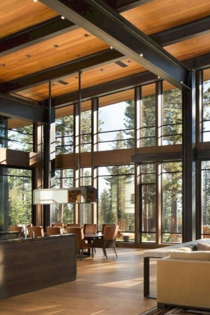 16 Impressive Modern Home Decoration Ideas Decoration Home Ideas Impressive Modern Decoride In 2020 Modern Mountain Home Modern House Design Architecture House