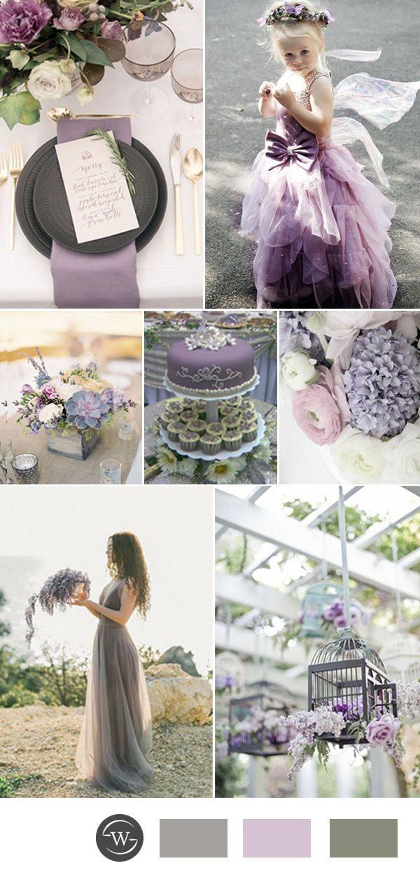 romantic lavender and gey wedding color ideas