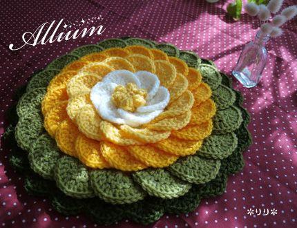 アリウムの円座 (Crochet Seat Cushion - Allium)