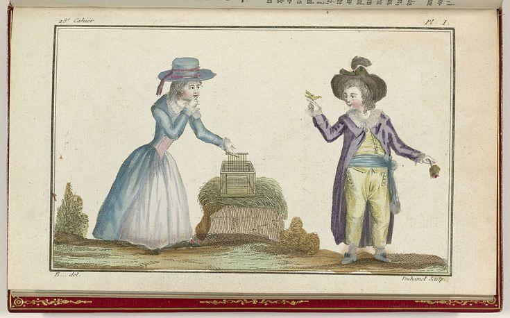 Cabinet des Modes ou les Modes Nouvelles, 15 Octobre 1786, pl. I, A.B. Duhamel, B..., Buisson, 1786