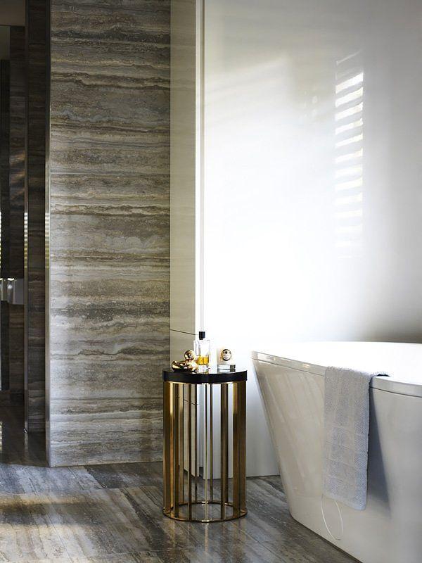 marmor badrum, grå, grått, fristående badkar