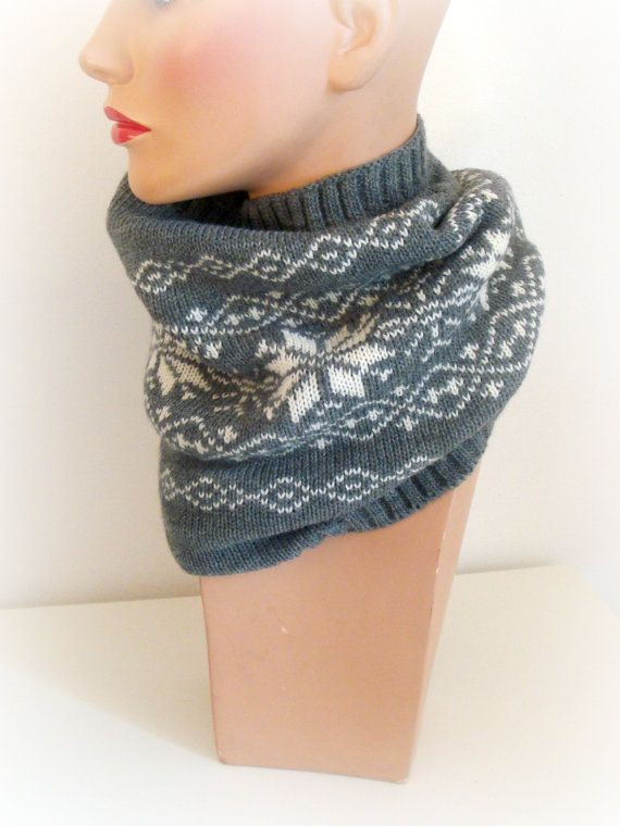 Hand Knit Cowl  Handmade Cowl Knit  Original Look  by InkaBoutique, $52.00