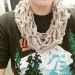 DIY Arm Knit Infinity Scarf