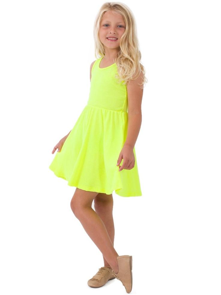 Highlighter Kids Baby Rib Skater Tank Dress | 2 - 6 Years | Kids & Babies' Dresses & Skirts | American Apparel