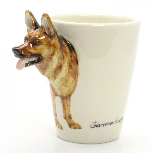German Shepherd Dog Mug 00001 Ceramic Coffee Cup Home Decor Gift Dogs And