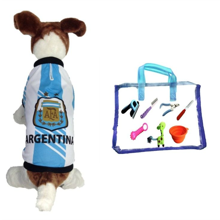 Dog Soccer Jersey Argentina -Pet T-shirt- Made of Great 100% Polyester-breathable Fabric-makes Dog Comfortable-cozy up Costume to Celebrate Your Country Tradition-enjoy Your Football Team Passion-best Quality Jersey to Share Every Game with Your Puppy. *** Want to know more, click on the image. #MyDog