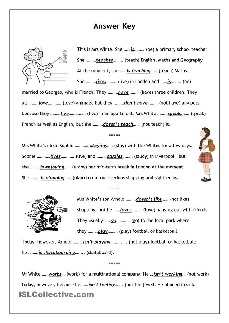 No-frills worksheet for all ages: Present Simple vs. Present Continuous (1)