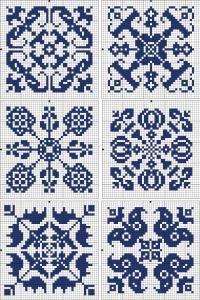 mattonelle monocolore punto croce