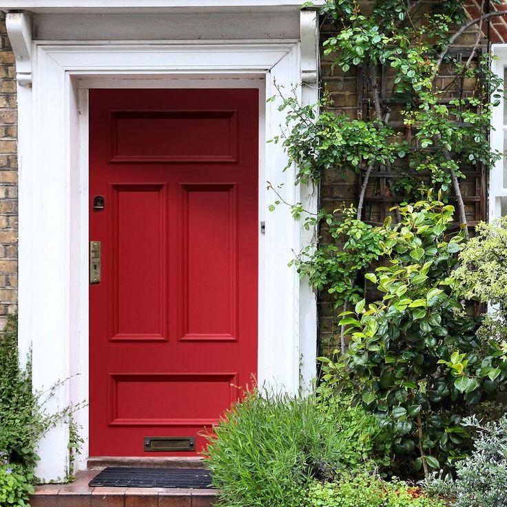 Made to order exterior door, Victorian Wilde door - made to measure to your sizes. #redenglishdoor #externalsoliddoor #reddoor