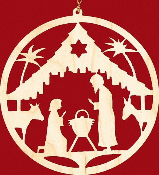 Fensterbild Weihnachten Christgeburt - rund