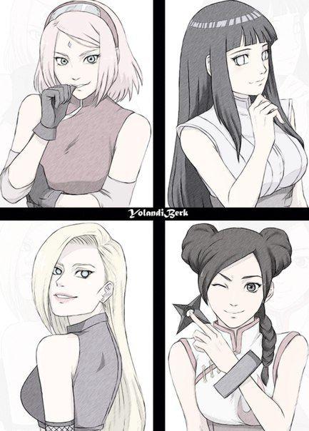Naruto// Sakura, Ino Hinata and Tenten