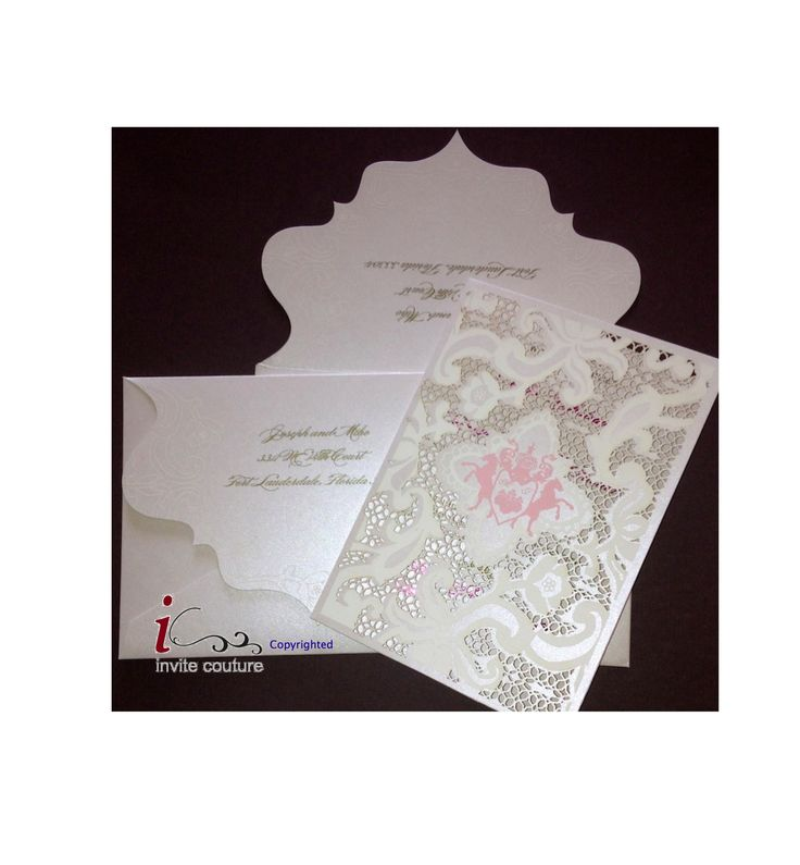 luxury wedding invitations dallas%0A Luxury Custom Laser Cut Wedding Invitations by InviteCouture from  PaperWeLove on ETSY