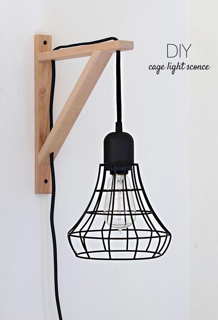 DIY: Cage light sconce